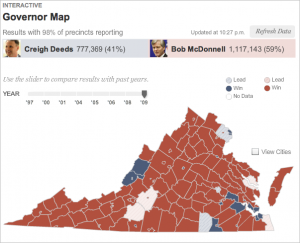 VA Election: Results Map